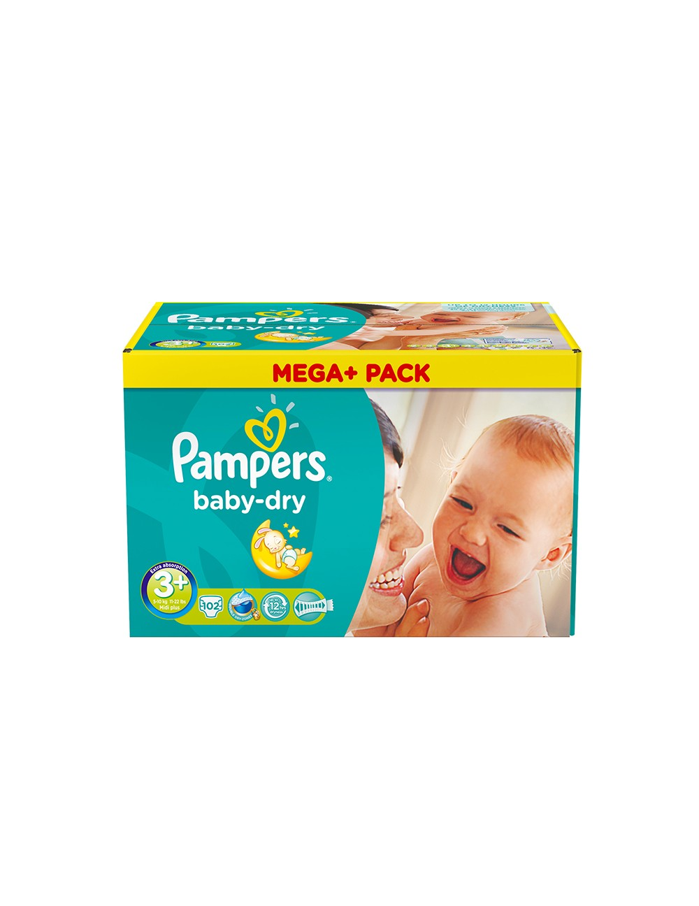 Pampers couches baby dry taille 3 x 102 couches megapack - Couches pampers promotion ...